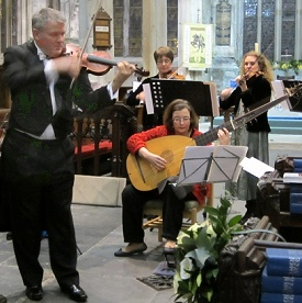 Peter Fisher with members of the Chamber Ensemble of London, Tavistock, 2012